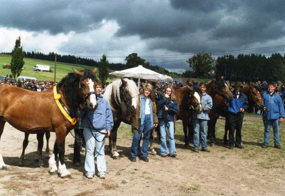 Die Familie der Anette wurde am Rossfest 2004 als Siegerfamilie ausgezeichnet