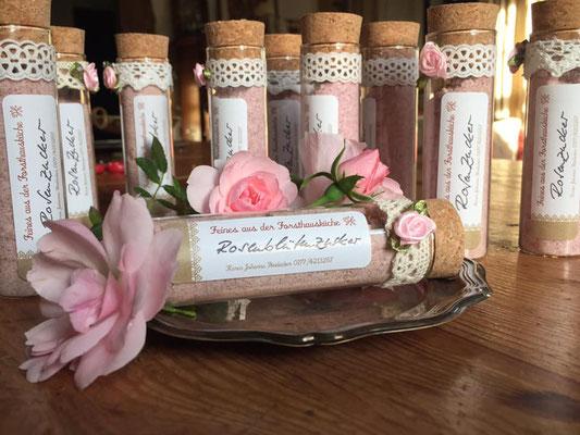 Rosenblütenzucker für puren Genuss