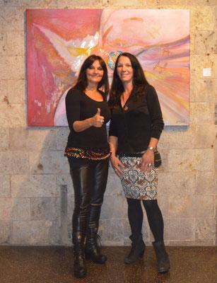 Lady Volcano zu Besuch bei meiner Ausstellung