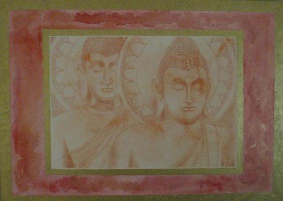 Harmonie - part 2 70 cm x 50 cm Leinwand auf Keilrahmen Acryl, Rötel