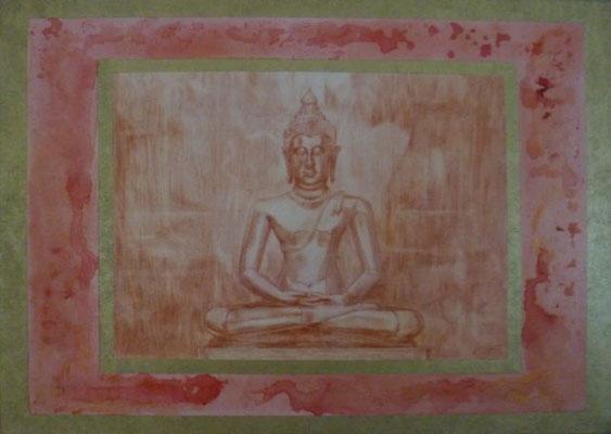 Harmonie - part 5 50 cm x 70 cm Leinwand auf Keilrahmen Acryl, Röte