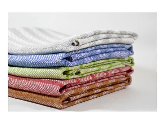 """Leinentuch """"Fischgrat""""  -  75% Leinen / 25% Cotton  -  50 x 95 cm"""