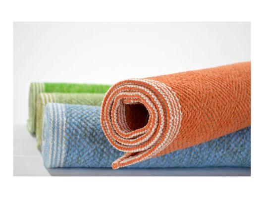 """Badematte """"Elbstern""""  -  50% Leinen / 50% Cotton  -  60 x 70 cm oder 60 x 100 cm"""
