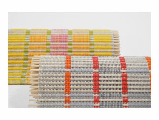 Tischband  -  Leinen, Cotton, Rattanstäbe  -  Breite 25 cm - unterschiedliche Längen