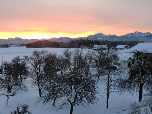 Morgenstimmung im Winter