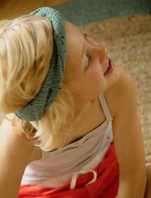 Unser handgemachtes Musselin-Haarband in Mint / Our Handmade Double Gauze Linen Bandana in Mint / Musselin-Haarband Salbei / Double Gauze Bandana Sage / Musselin-Stirnband Mint / Double Gauze Headband Mint / Haarband Damen / Bandana Kids