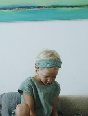 Unser handgemachtes Musselin Haarband in Mint / Our Handmade Double Gauze Bandana in Mint / Musselin-Haarband Mint / Double Gauze Bandana Mint / Musselin-Stirnband Grün / Muslin Headband Green / Haarband Damen / Bandana Ladies Kids / Haarband Kinder
