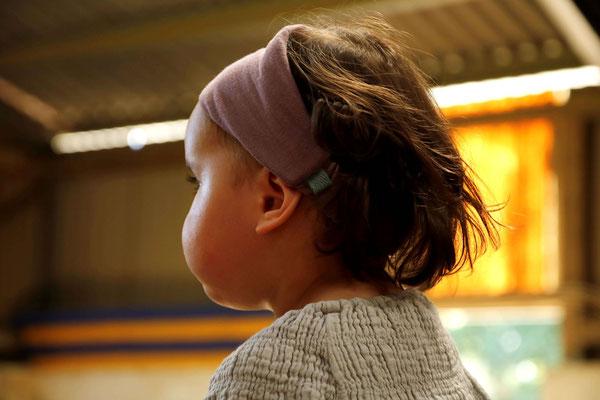 Unser Handgemachtes Gazé Haarband in Staubrosa / Our Handmade Gauze Bandana in Dusty Rose / Gazé-Haarband Rosa / Gauze Bandana Pink / Gazé-Stirnband Rosa / Gauze Headband Pink / Haarband Damen Frauen / Haarband Kinder Mädchen / Bandana Women Ladies