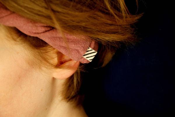Unser handgemachtes Stonewashed Leinen-Haarband in Rosa / Our Handmade Stonewashed Linen Bandana in Pink / Stonewashed-Haarband Rosa / Stonewashed Bandana Pink / Stonewashed-Stirnband Altrosa / Stonewashed Headband Pink / Haarband Damen / Bandana Kids