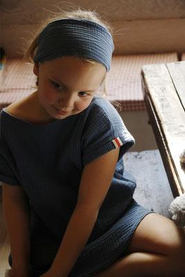 Unser handgemachtes Musselin Haarband in Blau / Our Handmade Double Gauze Bandana in Blue / Musselin-Haarband Blau / Double Gauze Bandana Blue / Musselin-Stirnband Blau / Muslin Headband Blue / Haarband Damen Frauen / Haarband Kinder / Bandana Ladies