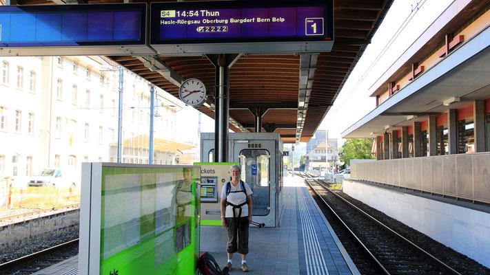 Am Bahnhof Lützelflüh