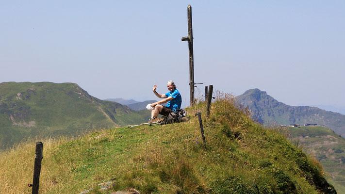 Genussvolle Aussichtsrast auf dem Saalbachkogel