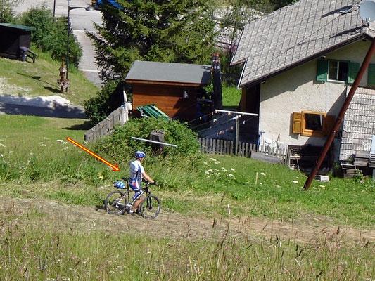 ... selbst für Biker zu steil!