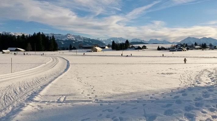 E wunderbare Wintertag uf Langloufloipe Heimeschwand