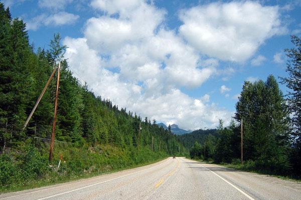 Stressfreies Fahren auf breiten, verkehrsarmen Strassen