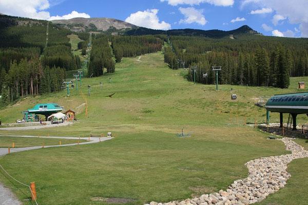 und Zielgelände der Ski-Weltcup-Abfahrt