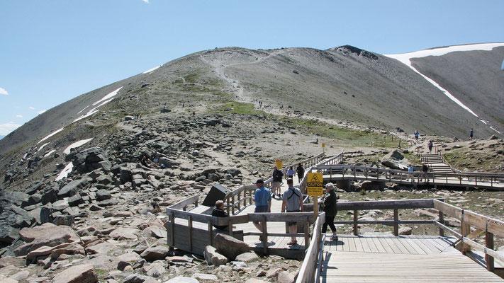 Angekommen bei der Bergstation