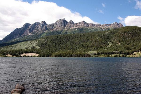 Ein letzter Halt am Yellow-Head Lake vor Jasper