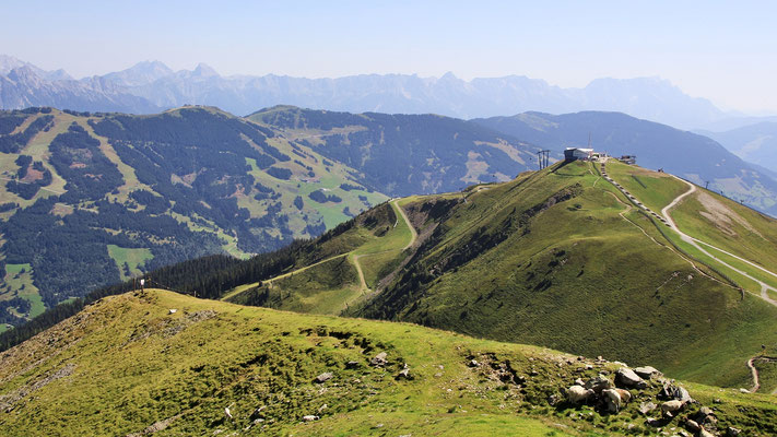 Blick vom Schattberg West zum Ostgipfel