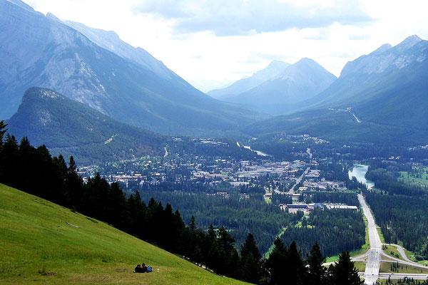 Aussicht auf Banff