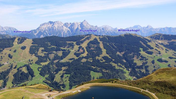 Die Höhenwanderung aus der Sicht vom Schattberg Ost