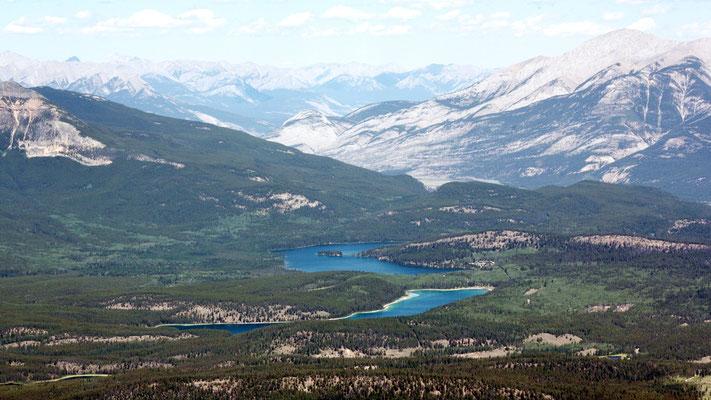 Ein schönes Panorama bei der Bergfahrt