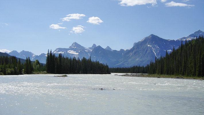 Der Athabasca River...