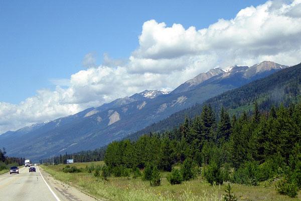 Weiter fahren wir auf dem Yellow-Head Hw#5 Richtung Alberta