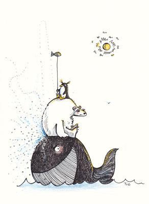 Antje Püpke . Die Wassermusikanten . 2016 . Illustration . 20x30cm . 90,- €