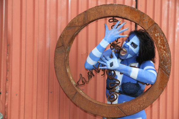 Foto: Erel Ka, Bodypainting Blau