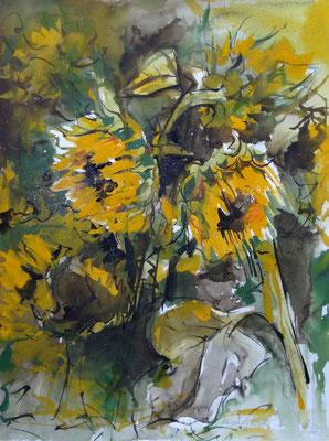 Sonnenblumen . 2013 . 36x49cm . 349,- €