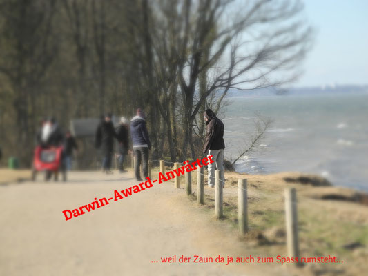 Herrmannshöhe / Brodtener Steilküste - die Deppen sterben einfach nicht aus :(