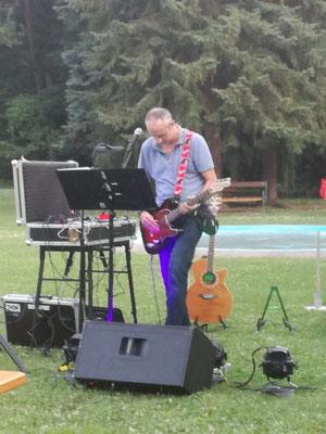 Erster Soundcheck bei Open Air Konzert