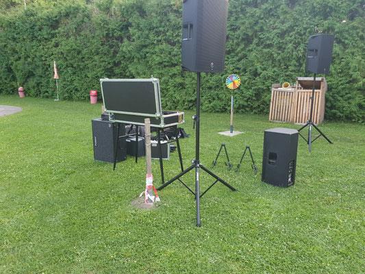 Seitenansicht Bühne bei Open Air in Pulkau
