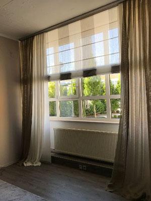 Raffrollo Horizon mit Querstäben für enorme Fensterbreiten