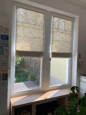 Raffplissee Queens direkt am Fensterrahmen montiert - wohnlich- variabel