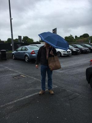 Erstes mal Regen gleich Shopping
