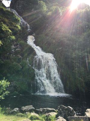 Lange Fahrt bis wir diesen Wasserfall gefunden haben