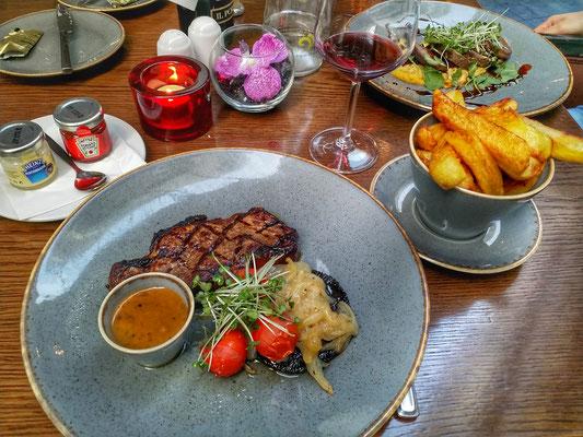 Erstes Essen in Irland