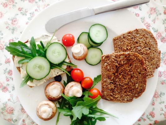 Veganes Frühstück auf Wunsch und mit Voranmeldung möglich