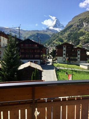 Sonne tanken mit Matterhornsicht