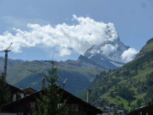 Matterhornblick von allen Süd- und Südwest-Balkonen