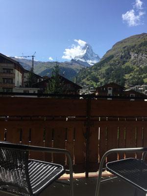 Matterhornsicht vom Balkon