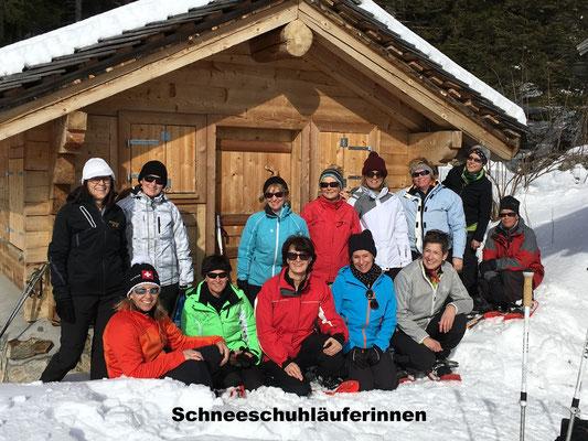 Schneeschuhläuferinnen