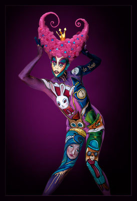 Bodypainting. Photo by Karin Upahl/ Artist Marilena Censi
