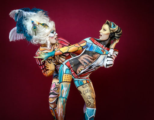 Bodypainting. Photo by Karin Upahl / Artists: Marzia Bedeschi & Nicola Loda