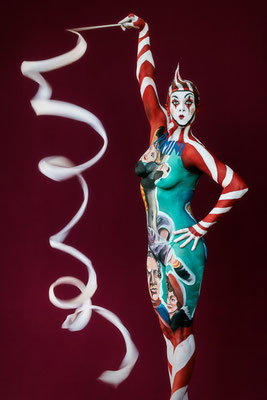 Bodypainting. Photo by Karin Upahl / Artist Marilena Cen