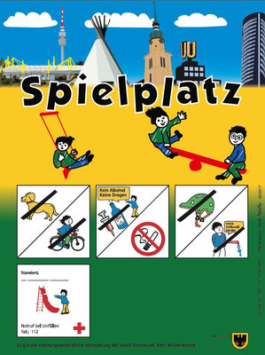 Sonderschild Stadt Dortmund Spielplatz