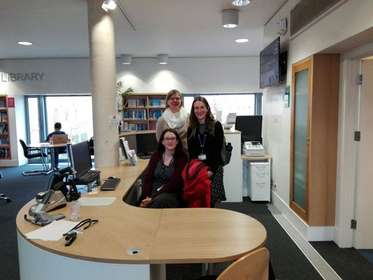 Sarah Wilson (Supervisor Said Business School, Oxford) Britta Biedermann (Project Manager) and Catherine Scutt (Supervisor Education Library, Oxford)