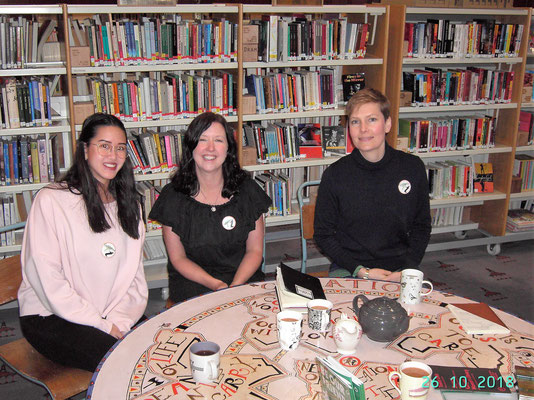 Glasgow Women's Library (GWL) Celestine Nguyen (Outgoing 2018), Wendy Kirk and Gabrielle Macbeth